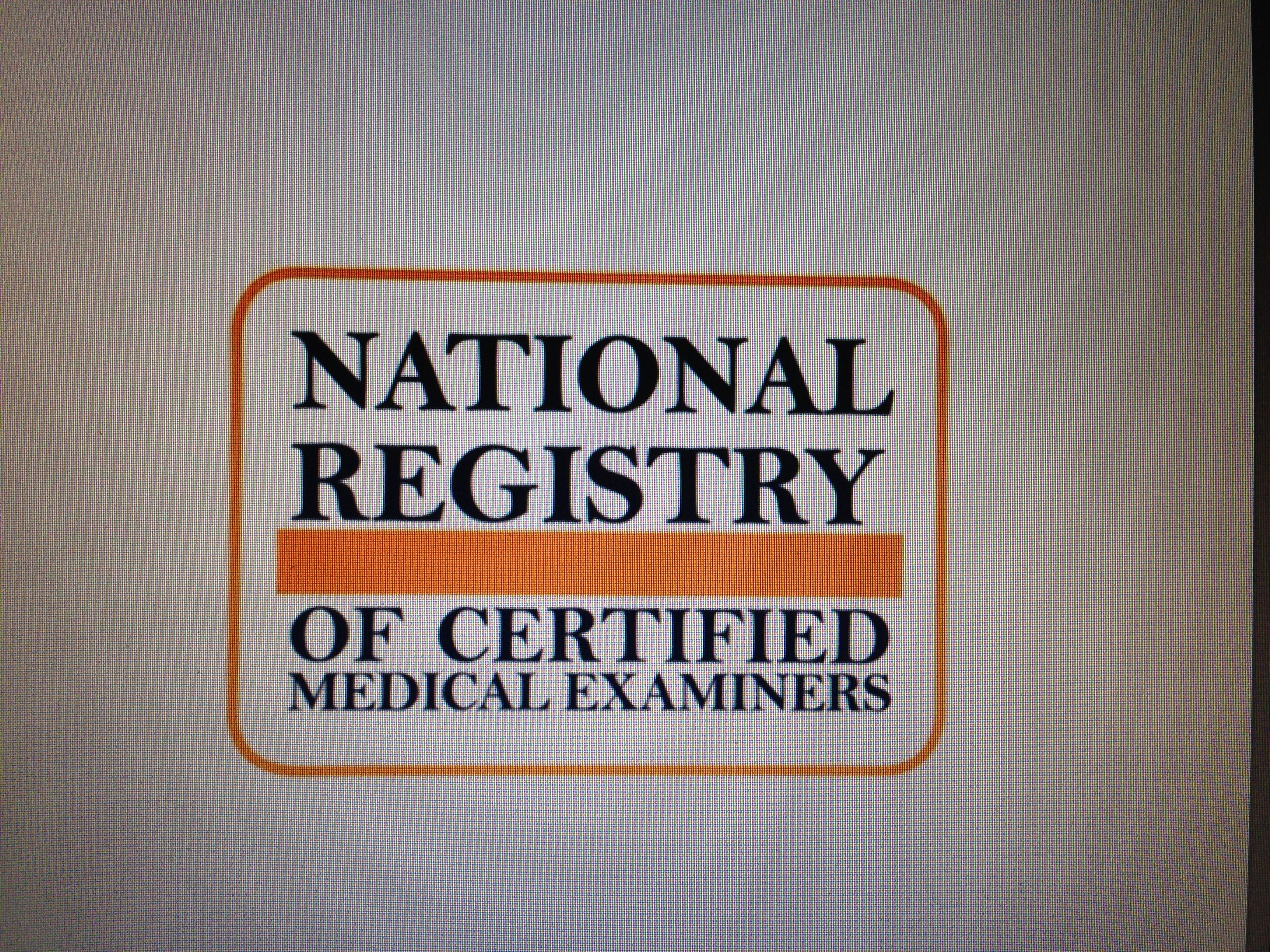 NRCME and the Certified Medical Examiner.