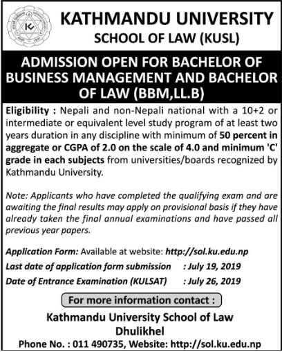 LLB Admission in KSL 2076