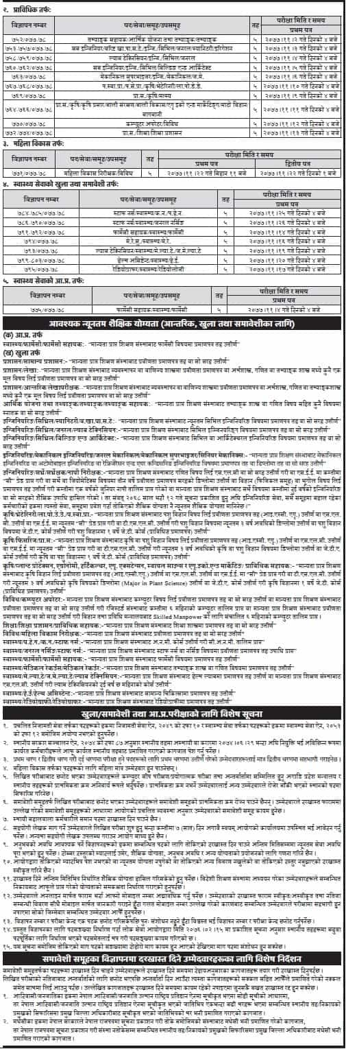 Province 3 Vacancy for Subba