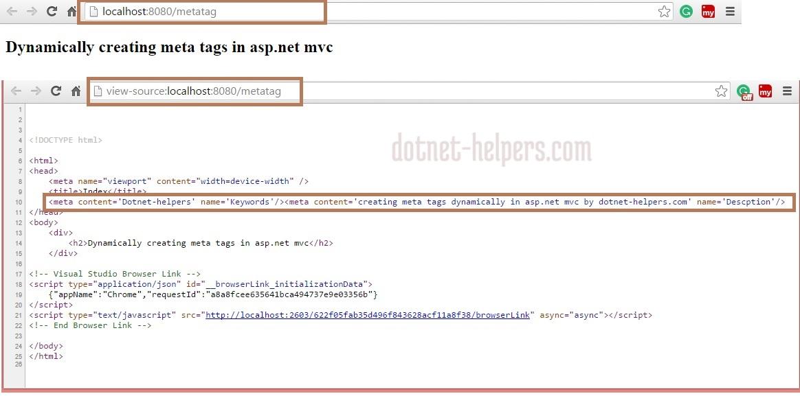 dotnet-helpers-adding meta tag using mvc -thiyagu