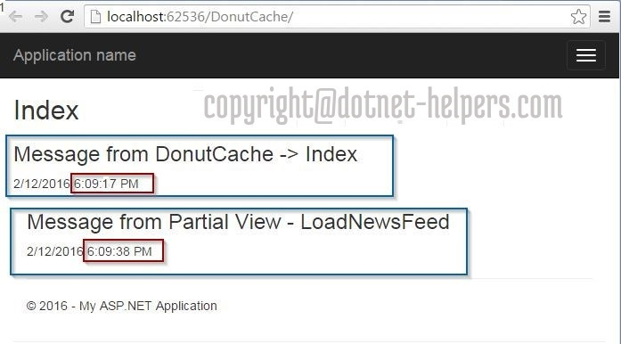 donut Hole caching- in MVC dotnet-helpers