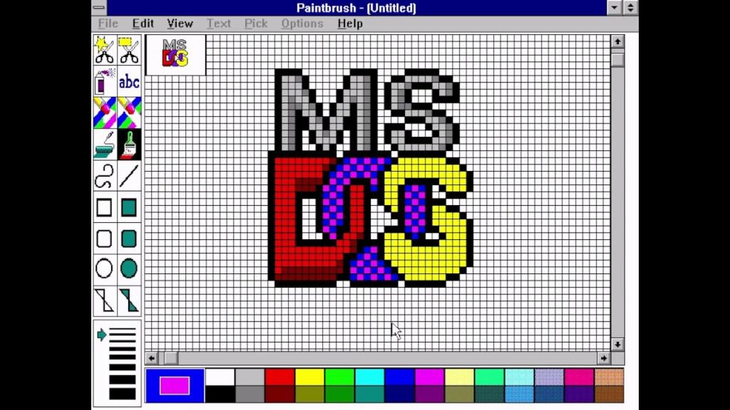 Microsoft DOS Logo , MS-DOS