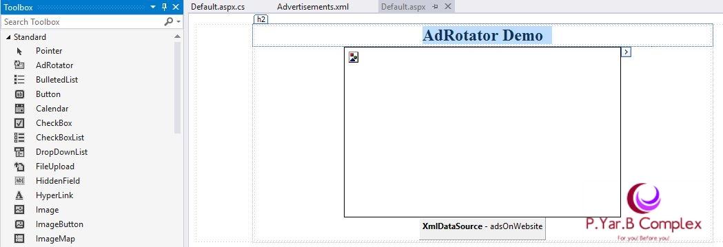 Using AdRotator in ASP.NET Design