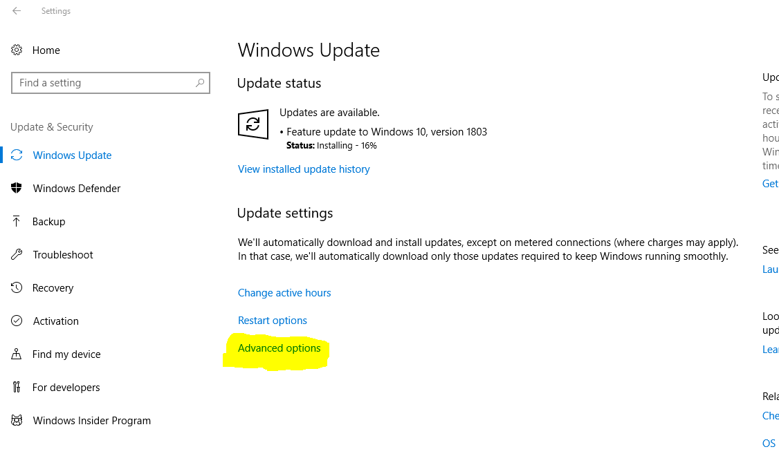 How to get Microsoft Windows 10 April 2018 Update? Update Settings Explained. 4