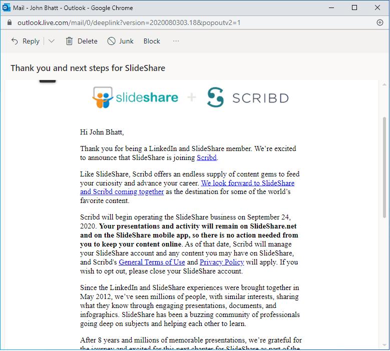 LinkedIn is selling SlideShare to Scribd