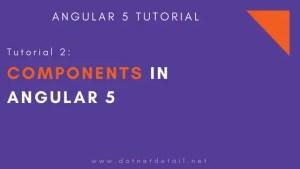 angular 5 tutorial 2 component