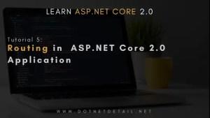 asp net core tutorial routing
