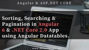 Sorting & Pagination using Angular Datatables