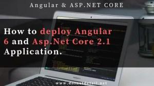 deploy angular 6 and asp.net core application on iis