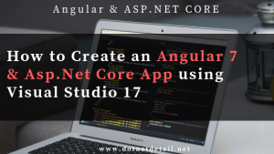 Angular 7 and Asp Net Core app tutorial