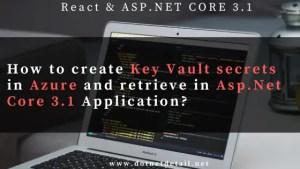 Key vault secrets in Asp.Net Core 3.1