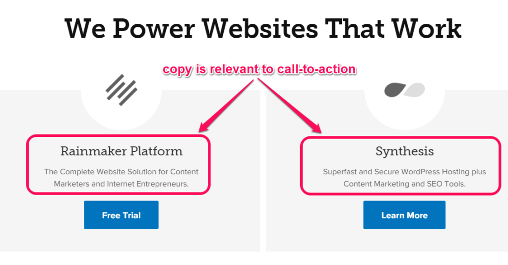 clear the headline to optimize website conversion