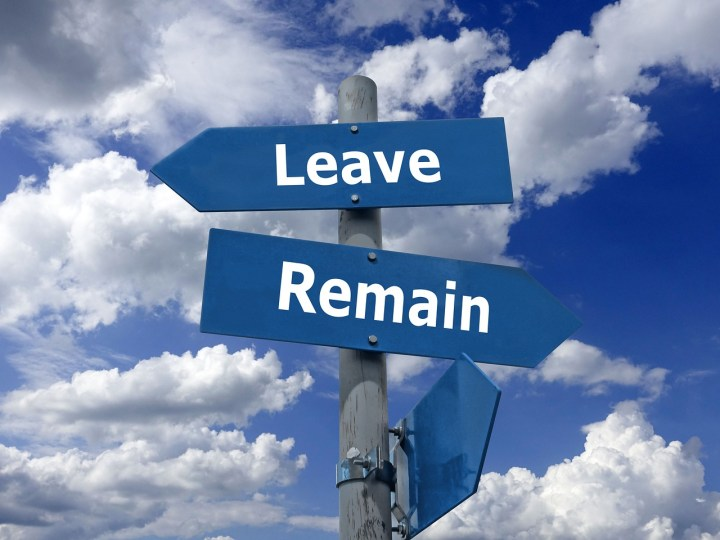 Brexit - Entscheidung zwischen Gehen und Bleiben