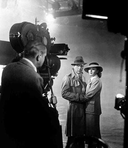 Behind the scenes of Casablanca photo Warner Bros. 1942