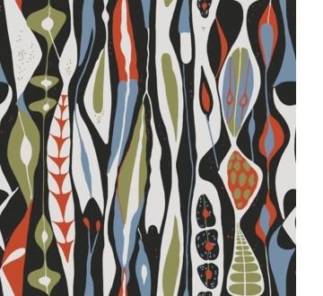 Bulbous wallpaper Stig Lindberg
