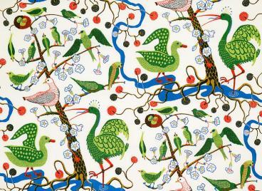 Green Birds by Josef Frank