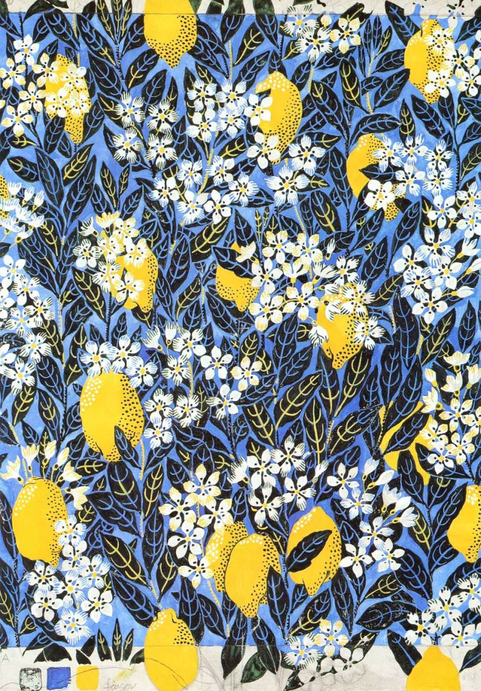 Master Drawing for Mignon by Josef Frank Published in Kristina Wängberg-Eriksson's Book Josef Frank: Textile Designs (2007)