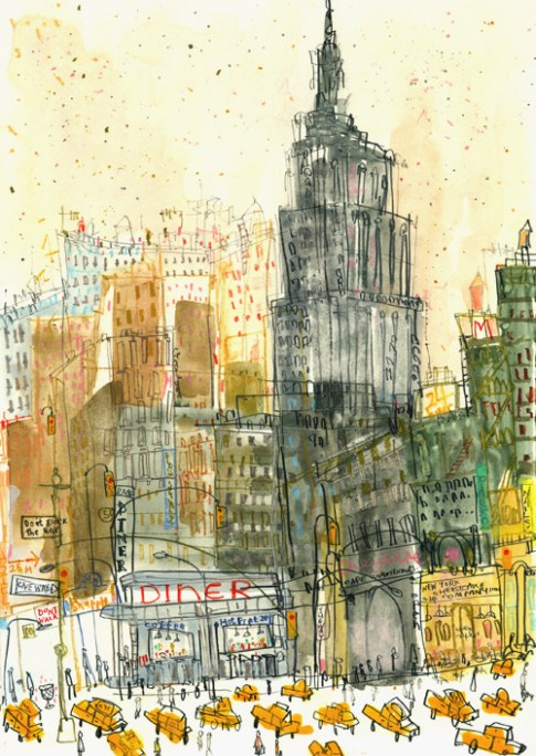 Empire State Diner New York by Clare Caulfield