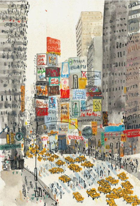 Times Square New York by Clare Caulfield