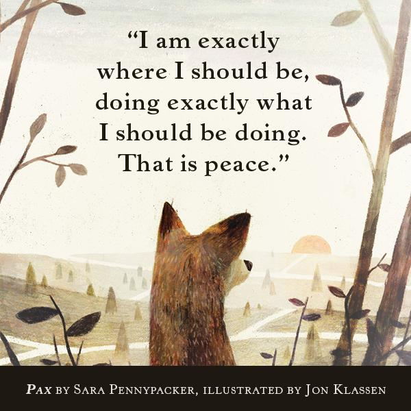 Pax by Sara Pennypacker illustration Jon Klassen