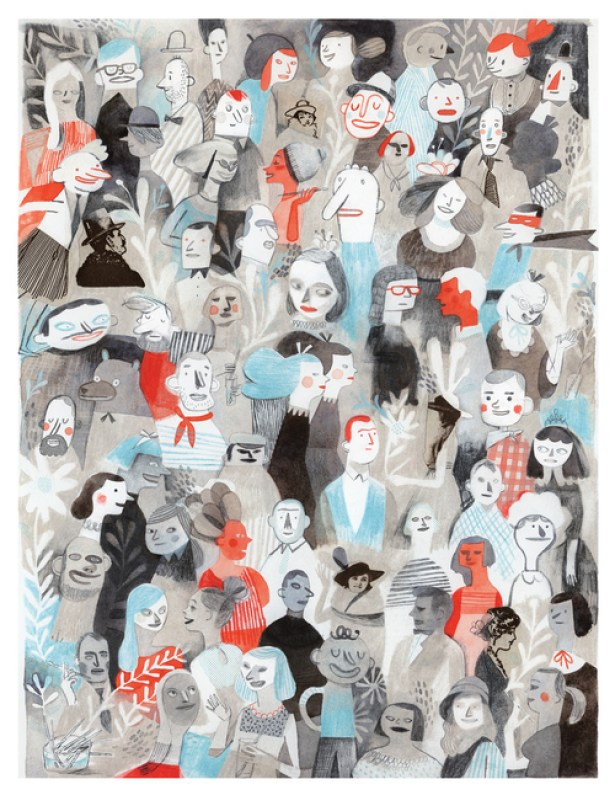 Foule by Isabelle Arsenault