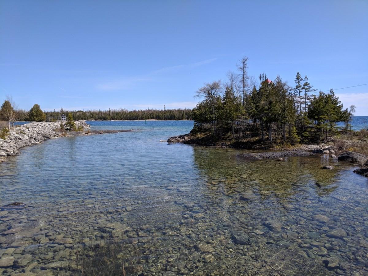 Озеро Гурон с острова Манитулин