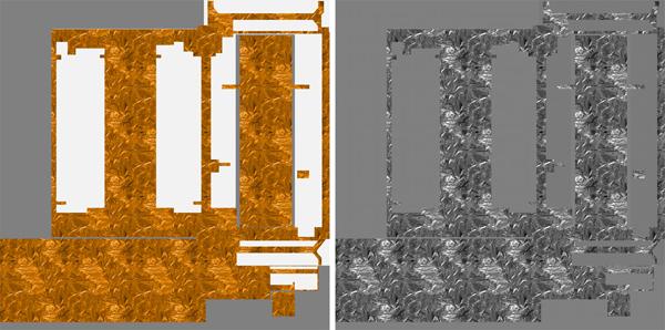 Satellite surface texture