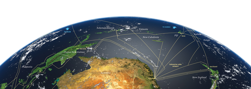South Pacific cables