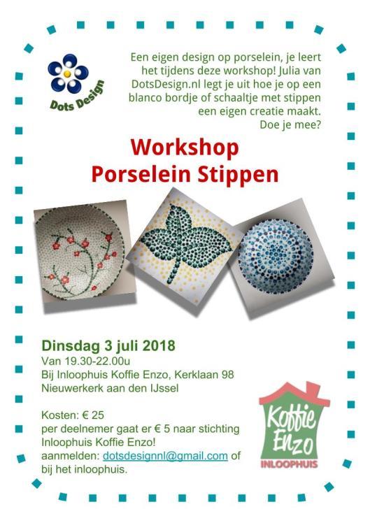 Workshop Porselein Stippen