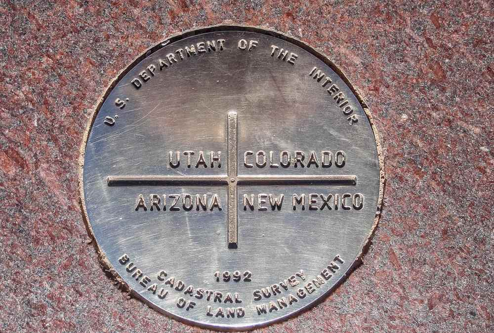 Straddling the great Southwest at Four Corners Monument