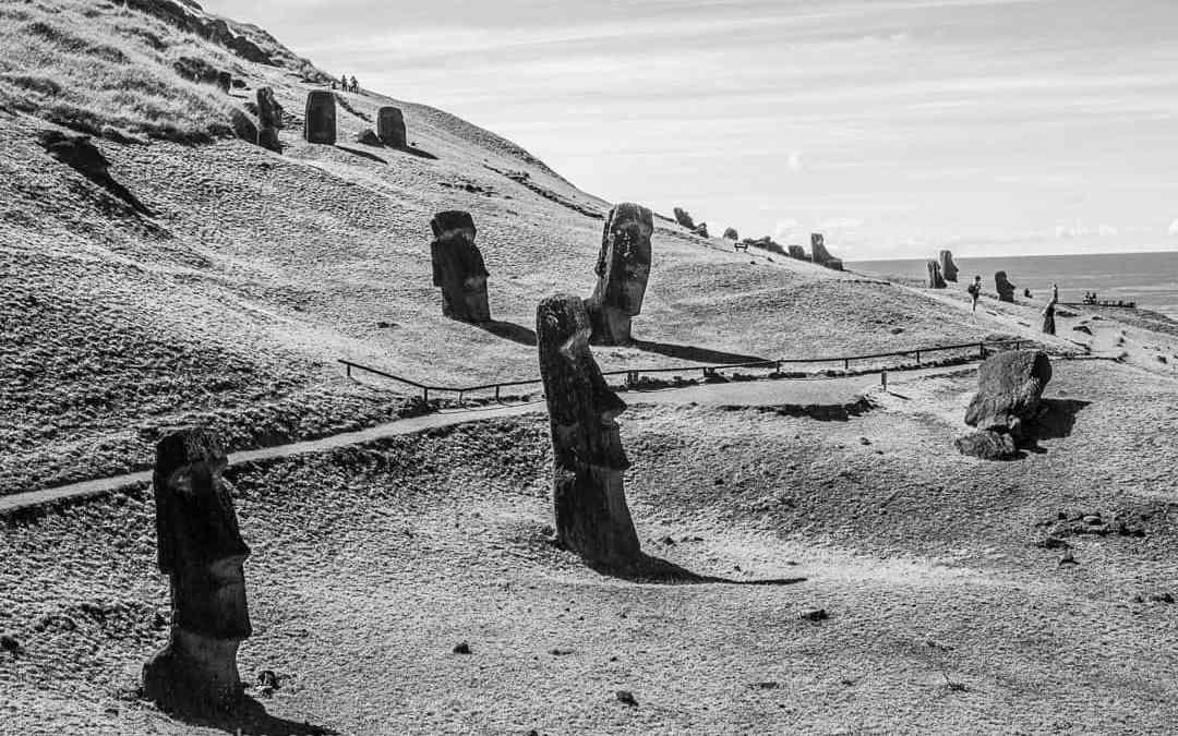 Moai at Easter Island: Culmination of a glorious dream
