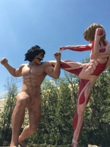 USJ進撃の巨人 エレンと女型の巨人