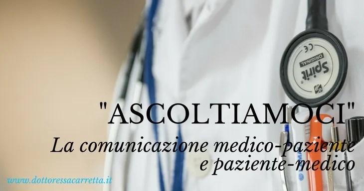 ascolto fra medico e paziente