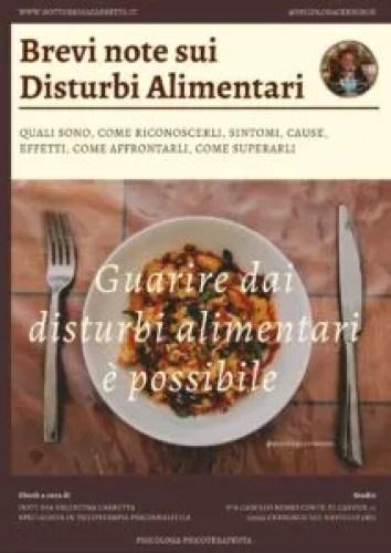 """Copertina Ebook """"Brevi note sui Disturbi Alimentari. Quali sono, come riconoscerli, sintomi, cause, effetti, come affrontarli, come superarli"""""""