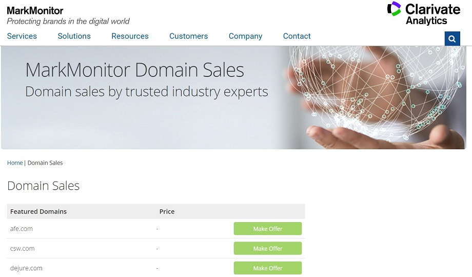 MarkMonitor Domains For Sale