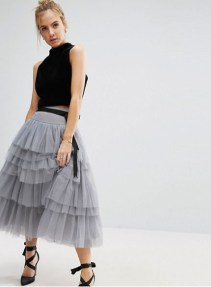 tulle skirt grey