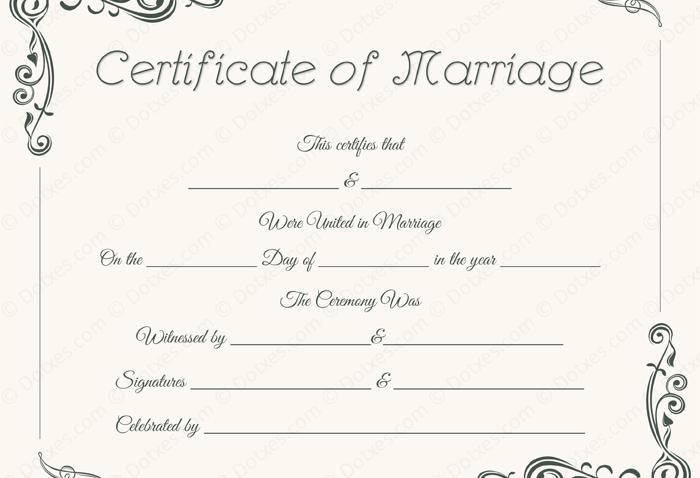 Standard Marriage Certificate - BLU