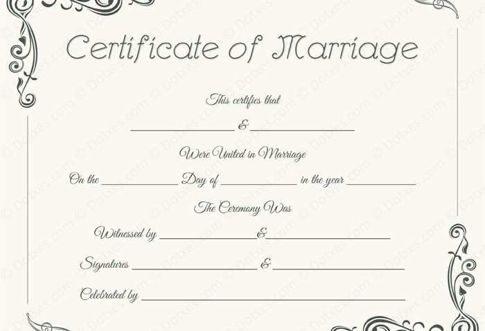 Standard Marriage Certificate - BLU