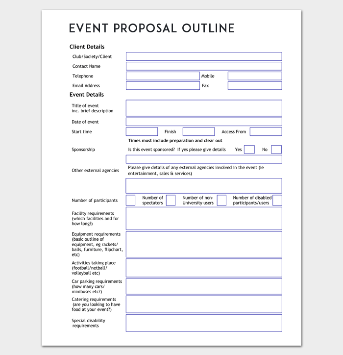 Event Proposal Outline Template Word Doc