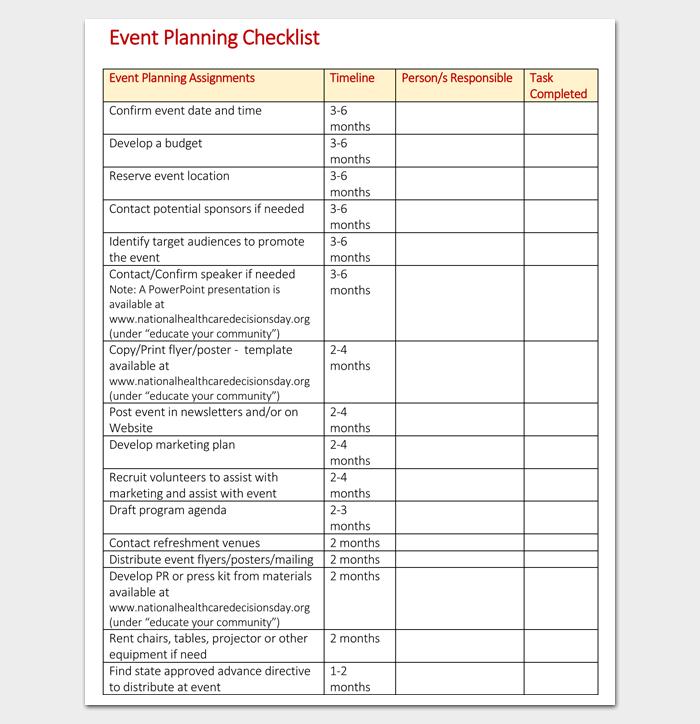 Healthcare Event Planning Checklist