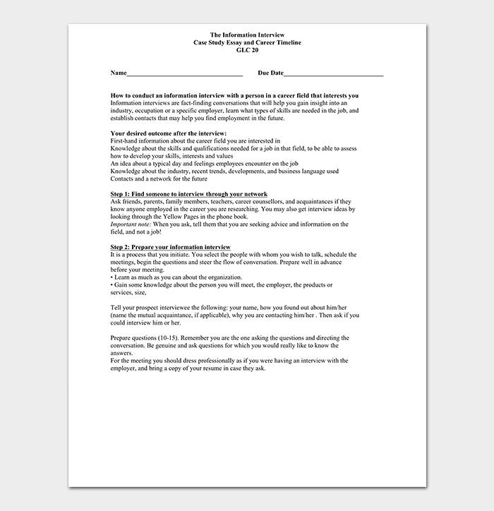 Career Timeline to Print