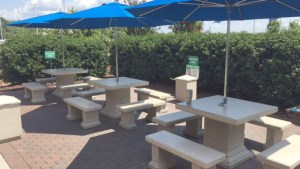 Concrete Tables For Employee Break Area Patio Doty Concrete