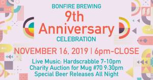 bonfire brewery 9th year anniversary