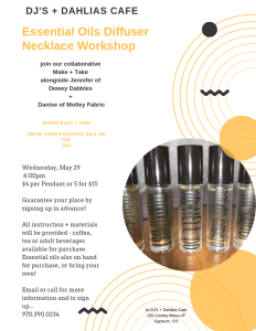 essential oil diffuser workshop