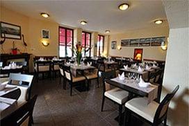 Salle du restaurant le Bord'eau à Douarnenez