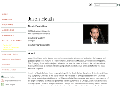 Jason Heath faculty page DePaul 1.png