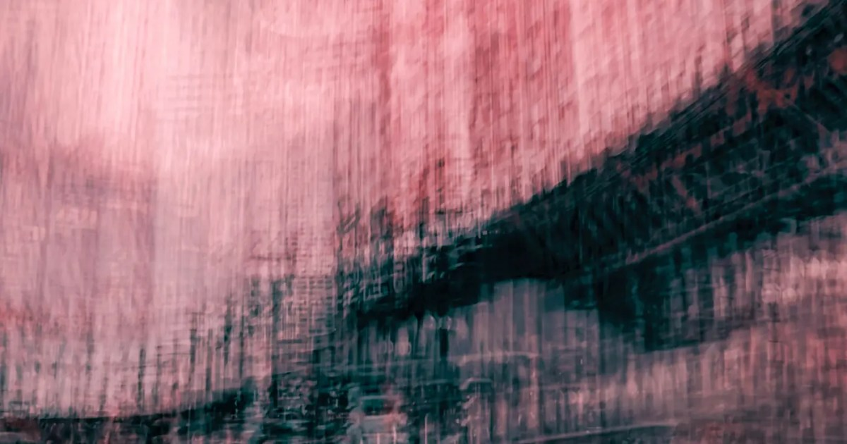 "Doubleblind: An abstract image of pink and blue. In this article, Doubleblind explores the danger of the ""neuromeme."""