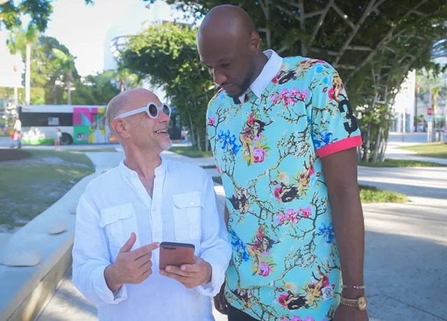 "Image of Michael ""Zappy"" Zapolin and Lamar Odom."