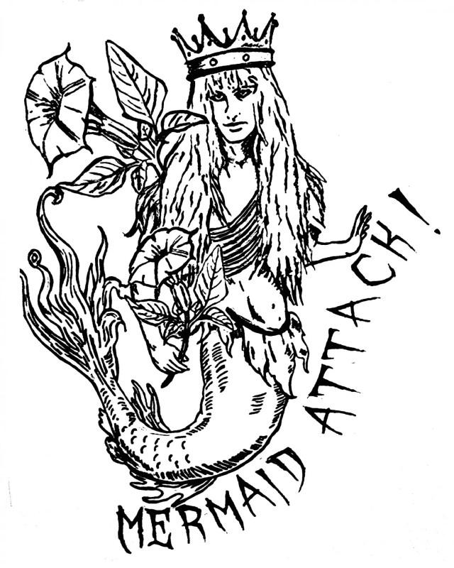 DoubleBlind: Illustration of mermaid by Bett Williams.