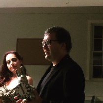 Gary Hoare accepts the award for Best Production One Minute or Under that he and Kara Kulpa collaborated on, Start of WInter